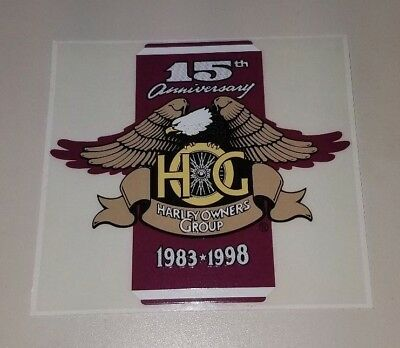 Harley-Davidson 15th Anniversary Harley Owners Group HOG Decal NEW