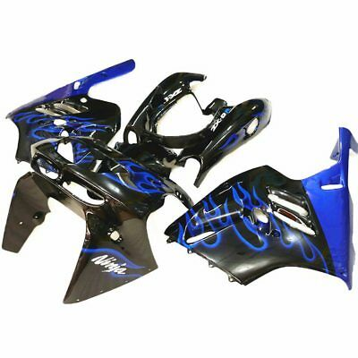 Fits Kawasaki Ninja ZX-9R 1994 95 96 97 ABS Fairing Bodywork Set Black+Blue