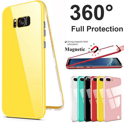 For Samsung Galaxy S9 S8 Plus S7 360° Full Protective Magnetic Phone Case Cover