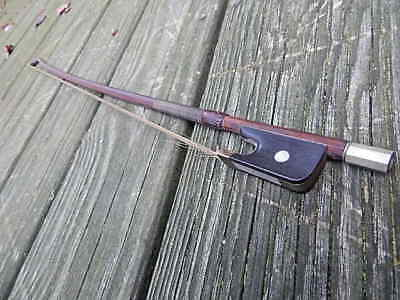 Antique Otto A Hoyer German Violin Bow Missing Round Mother Of Pearl Intntl Sale