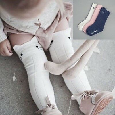 High Socks Lovely Toddler Baby Kids Cotton Knee Tights Leg Girl Soft Warm Girls