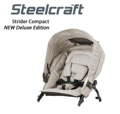 New Steelcraft Strider Compact Deluxe Edition Second Seat Stroller Pram Grey