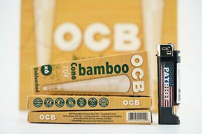 3x Packs AUTHENTIC Raw Rolling Paper Pre-Rolled Classic Cones King Size 96 Cones