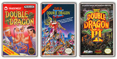 Double Dragon Nintendo Nes Collection 3 Magnete Magnete Kühlschrank