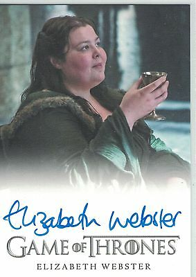 Game of Thrones Season 5 (2016): Elizabeth Webster  autograph