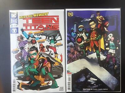 Teen Titans 20 Covers A and B First Crush