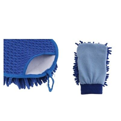 Microfiber Gloves Clean Brush Households Gloves Cleaner Car Gloves Blue