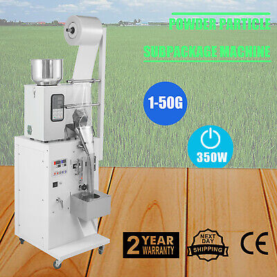 1-50g Automatic Weighing And Packing Filling Particles&Powder Machine UK