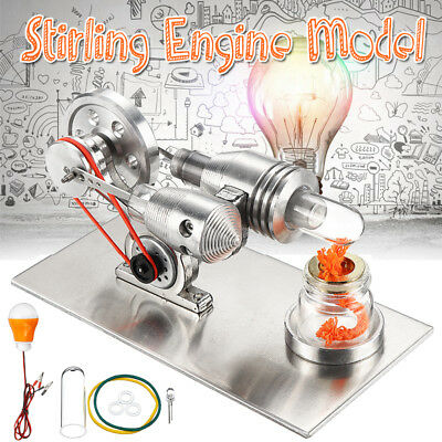 Stirling Engine Hot Air Model Motor Educational Kits Fun Projects Heat Engine
