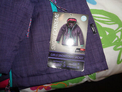 Girls snow jacket and pants, size 14 brand new with tags