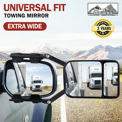 Towing Mirror Clip On Universal Multi Trailer Caravan Car Truck Vehicle 4WD