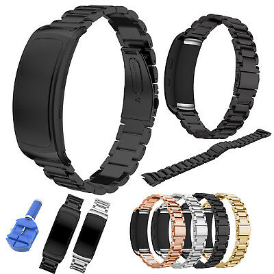 Metal Link Bracelet for Samsung Gear Fit 2 /Fit2 Pro Strap Stainless Steel Band