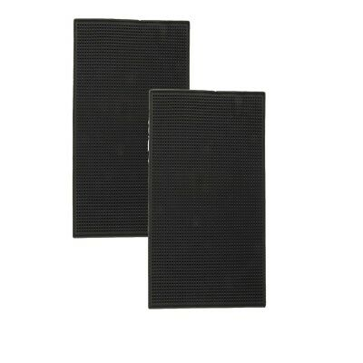 Black Rubber Bar Runner Service Spill Mat for Pub Cocktail Beer Party 2 Set