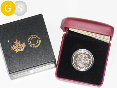 3 $ CAD Silber Proof 1/4 Oz Animal Architects: Spider and Web Canada Kanada 2014