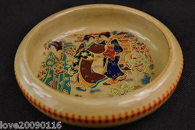 Collectible Decorated Handwork Jingdezhen Porcelain Painting Dowager Ashtray Pot