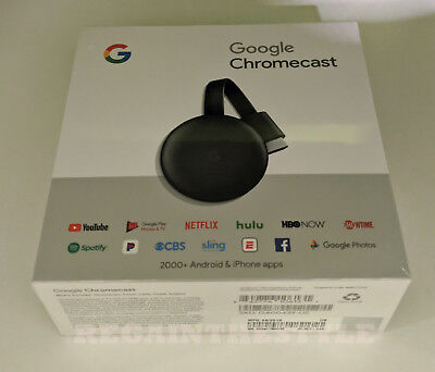 Google Chromecast 3a Generazione Digitale HDMI Media Streaming Dispositivo (2018