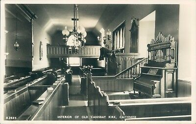 real photo Canisbay kirk interior J B White