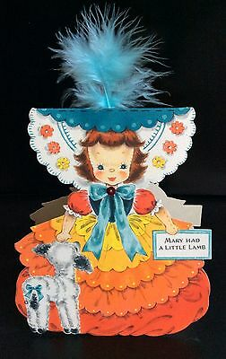 1947 Hallmark Puppe Karte Land Of Make Believe Serie #4, Mary Had A Little Lamb