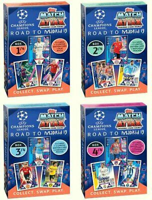 2018 2019 Topps Match Attax CHAMPIONS LEAGUE ALBUM BINDER 315 cards + LIMITED