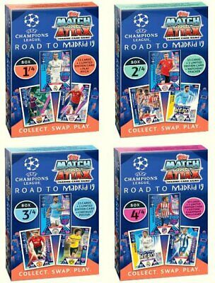 2019 Topps Match Attax CHAMPIONS LEAGUE road to Madrid 19 all 4 box + binder