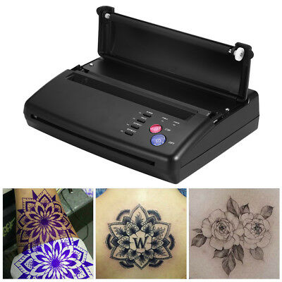 Tatuaggi Copier Termico Stampante Tattoo Thermal Copier Stencil Transfer EU Plug