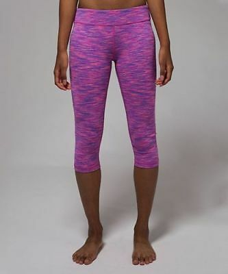 d5dd070701 IVIVVA Girls by Lululemon Rhythmic Crop Leggings Pink Purple size 10 Capri  Pant