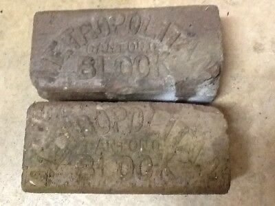 Antique Metropolitan paver brick of Canton Ohio from streets of Wilkes barre pa