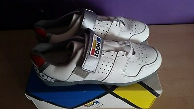 Look Vintage Retro NOS NEW Bike Cycling Shoes 10 white Eroica cleats low model