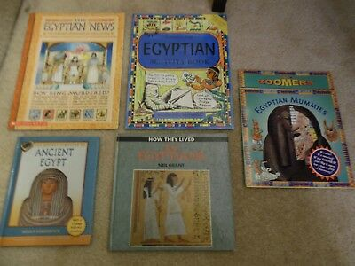 Lot Of 5 Books Ancient Egypt - Egyptians, Zoomers, Mummies, Homeschool History