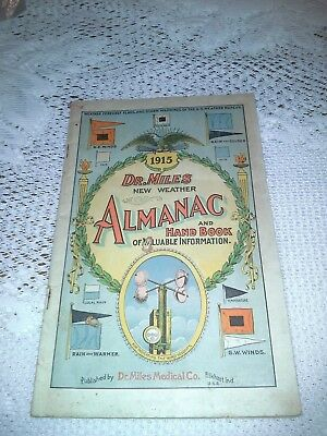 Vintage, 1915 Dr. Miles Almanac and Hand Book