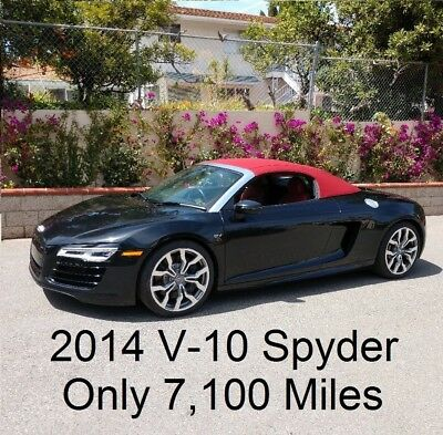 2014 Audi R8 5.2 Quattro Spyder 2014 Audi R8 5.2 V10 Spyder 9,500 Miles S-tronic 7 speed Calif. Convertible
