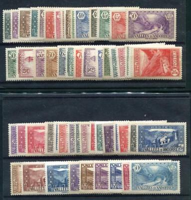 Andorra- French 23-63A Mint Hinged