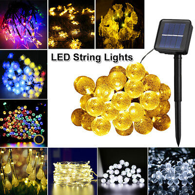 Christmas LED Solar String Lights Wedding Xmas Fairy Party Outdoor Decor Lamp