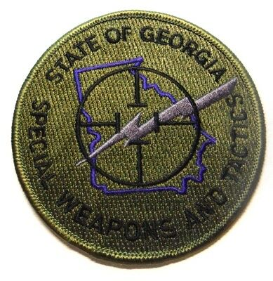 Georgia State Police Swat Subdued Patch Unused