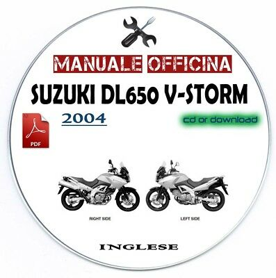 Manuale Officina Suzuki DL 650 V-Storm 2004 Workshop Manual Service Repair