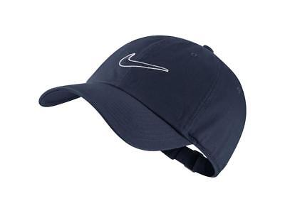 Nike Mens Unisex Heritage 86 Embroidered Swoosh Logo Sportswear Cap -Navy