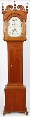 Lehigh Valley PA Federal Cherry Tall Case Grandfather Clock 8 Day Striking Works