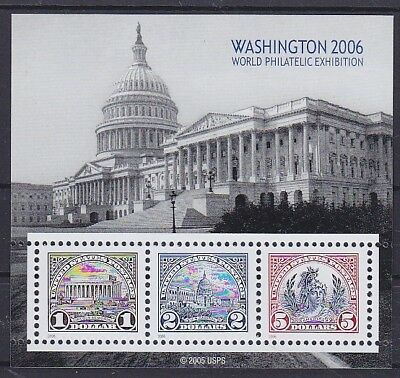 USA Block 60 **, 4120 - 4122, Washington 2006, postfrisch, MNH