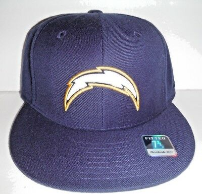 Los Angeles San Diego Chargers Nfl Reebok Fitted Nwt Size 7 3 8 Navy Hat 96673e68407f