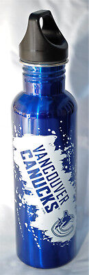 Vancouver Canucks 26-Ounce Screw Top Stainless Steel Water Bottle