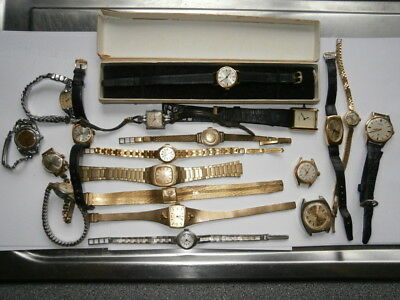Job lot of vintage ladies watches mechanical watches working swiss made