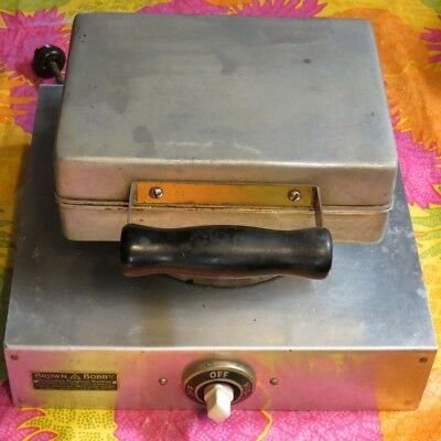 1920's Vintage Brown Bobby Triangle Donut Maker Donut Machine with Recipe Sheet