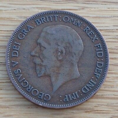 1929 King George V One Penny  Coin