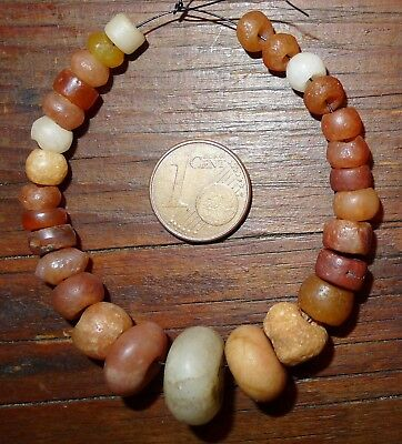 15mm Perles Ancien Afrique Sahara Ancient Neolithic Agate Carnelian Beads Africa