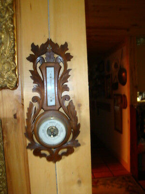 Beautiful Antique German Black Forest Style Barometer