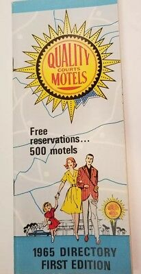 Quality Courts Motels 1965 Directory First Edition Travel Brochure