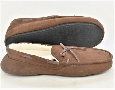 Gold Coast Mens Moccasin Slippers Medium - Brown