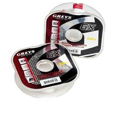Greys GX Fluorocarbon Fly Fishing Tippet Material..50 Metre 2.6lb.