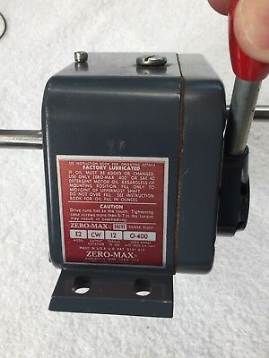 """Zeromax Zero-Max Variable Speed Reducer Reduction Both 3/8"""" Shafts Watch Video !"""