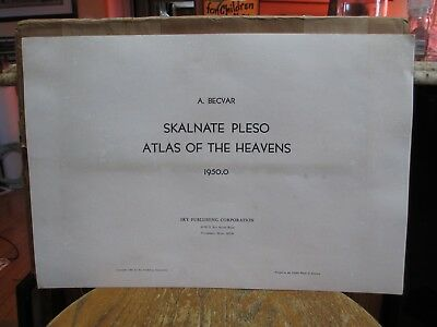 Complete 1950.0 Skalnate Pleso Atlas of the Heavens A Becvar